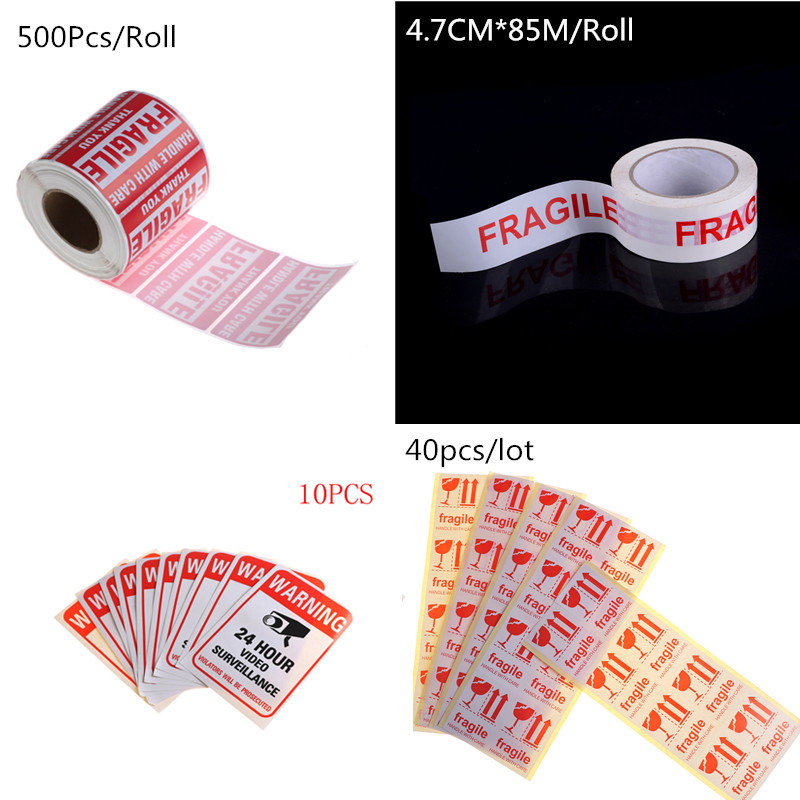 Fragile Shipping Mailing Handle With Care Stickers Warning Sticker 51 Mm X 76mm Or Warning Label Sticker