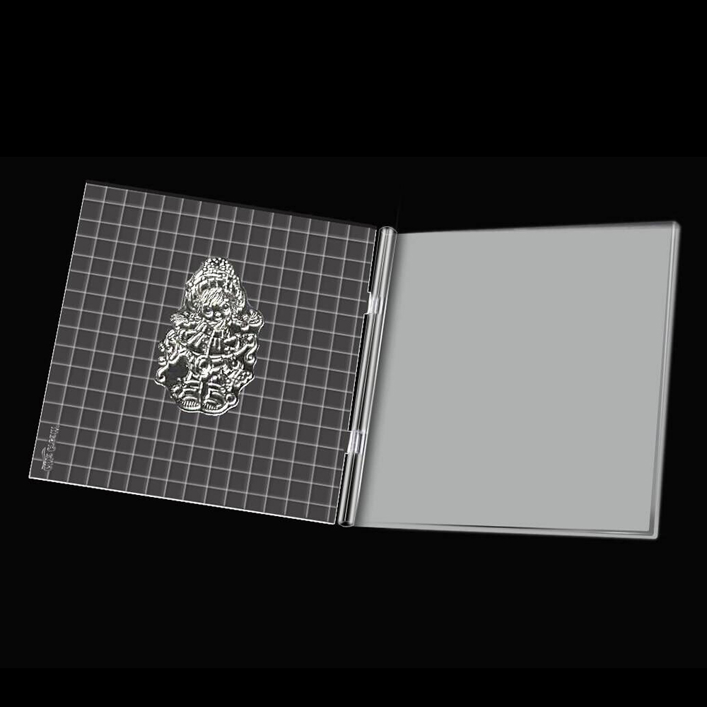 Ufurty 16x16cm Acrylic Stamping Tool Perfect Positioning Stamping Clear Stamps Scrapbook Craft Stamp Folding Plate