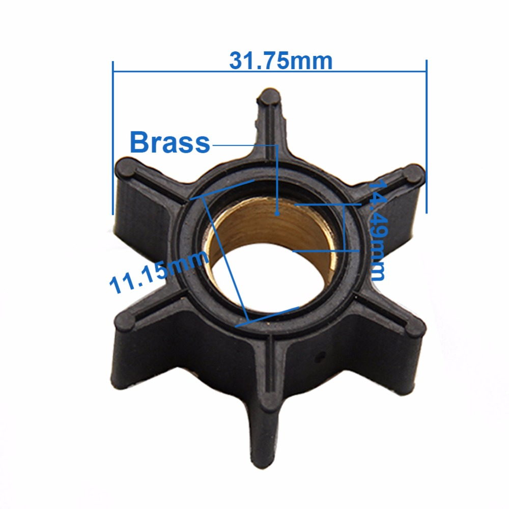 CARBOLE  Fit For Mercury 3.5HP 3.6HP 4HP Outboard Motor Quicksilver Water Pump Impeller 47-89980/47-68988/18-3054
