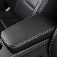 Car Genuine Leather Central Armrest Box Protective Sleeve For Mercedes Benz GLA 200 220 260 CLA C117 A Class Interior Styling