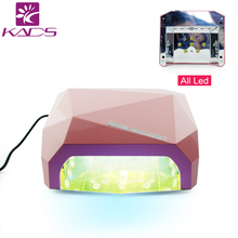 KADS 2016 NEW 36W 110V & 220V  LED Nail Gel Lamp Dryer Diamond Shape Curing Nail Dryer Care Machine for UV Gel Led Nail Lamp