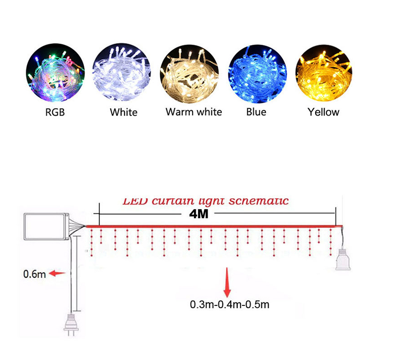 Xmas Wedding Party Curtain Decoration Connect Starry AC Lighting _01