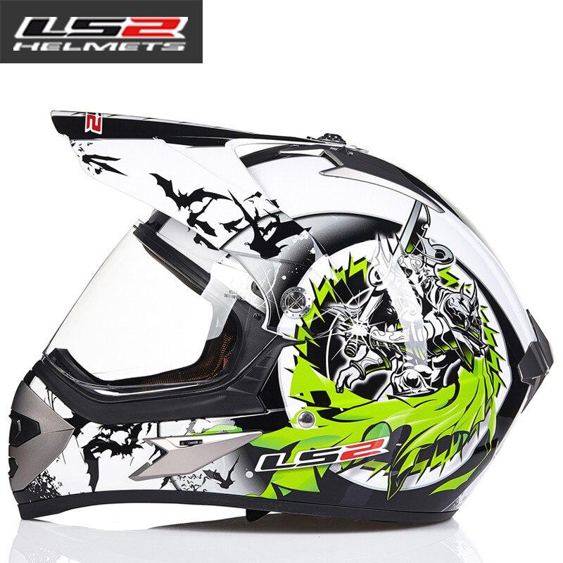 LS2 MX433 внедорожный мотоциклетный шлем с ветрозащитным щитом мотокросса шлемы костюм для мужчин и женщин одобренный ECE - Цвет: 13