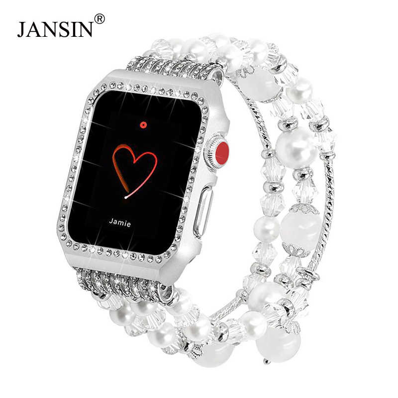 Glittering Diamond Metal Protective Case with band For Apple Watch 38mm 42mm Bracelet Strap for iWatch band Series 3/2/1 Women