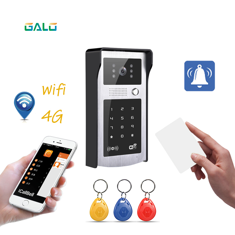 Wifi Rfid e password Video Porta Telefono Della Tastiera di Tocco di WiFi Campanello per Porte IP Home Video Campanello supporto apri del cancello di sistema citofono