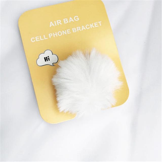 UVR telefon komórkowy Stretch góra ciepły pluszowy królik poduszka powietrzna telefon komórkowy Braket rozszerzenie stojak na telefon palec uchwyt samochodowy uchwyt telefonu