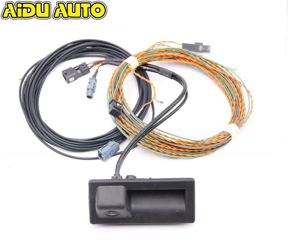 Rear View Camera Trunk Handle With High Guidance Line Wiring Harness For Audi A3 8V MIB UNIT 8V0827566B 8V0 827 566 B