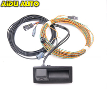 Rear View Camera Trunk handle with High Guidance Line Wiring harness For Audi A3 8V MIB UNIT 8V0827566B 8V0 827 566 B highline mib unit rear camera install wiring harness cables for audi a3 8v 5q0 907 441 a 5q0907441a 7n0 907 441 b 4s0 907 441b