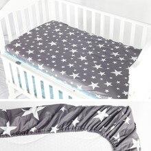 Хлопок, простыня для кроватки, мягкий матрас для детской кровати, защитный чехол, мультяшное постельное белье для новорожденных, размер 130*70 см