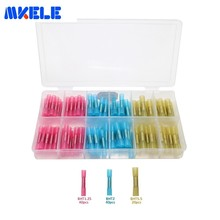 цена на Insulated Terminals 100pcs/Box Heat Shrink Butt Connectors  Cable Wire Connector GP-H016 Assorted Insulated Electrical Makerele