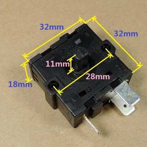 Electric Heater Parts Adjustable Gear rotary switch with 3 pins