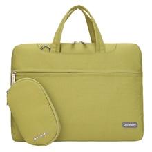 15 inch Laptop Bag Notebook Shoulder Messenger Bag Men Women Handbag Sleeve (Green)