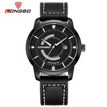 LONGBO Мужчины Бизнес Geniune Кожа Часы Militarty Спортивные Водонепроницаемые Кварцевые Часы Календарь Наручные Часы Relogio мужской 80203