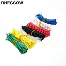 RHECCOW 420 шт. 1 мм L = 5 см 7 цветов 600 в 2:1 HFT термоусадочная трубка изоляционные рукава изоляция для кабеля комплект