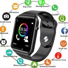 БЕСПЛАТНАЯ ДОСТАВКА A1 наручные часы Bluetooth Смарт часы мужские спортивные Шагомер с сим-камерой Smartwatch для Android смартфон Россия