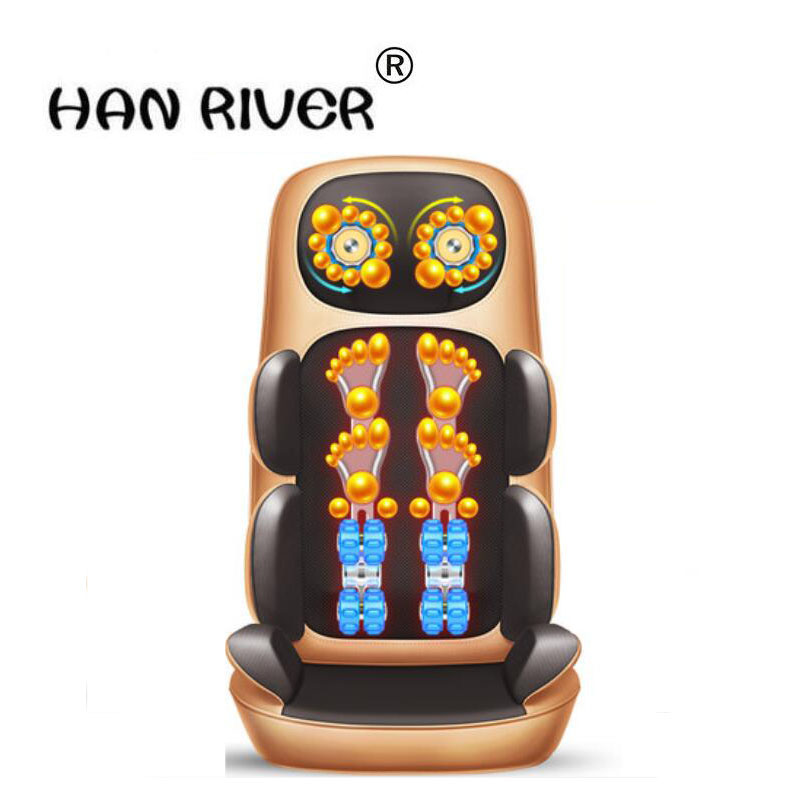 HANRIVER Cervical spine massager multi-function body vibration kneading household electric pillow chair cushion vibration massage chair household body luxury multi function intelligent electric zero gravity space cabin sofa