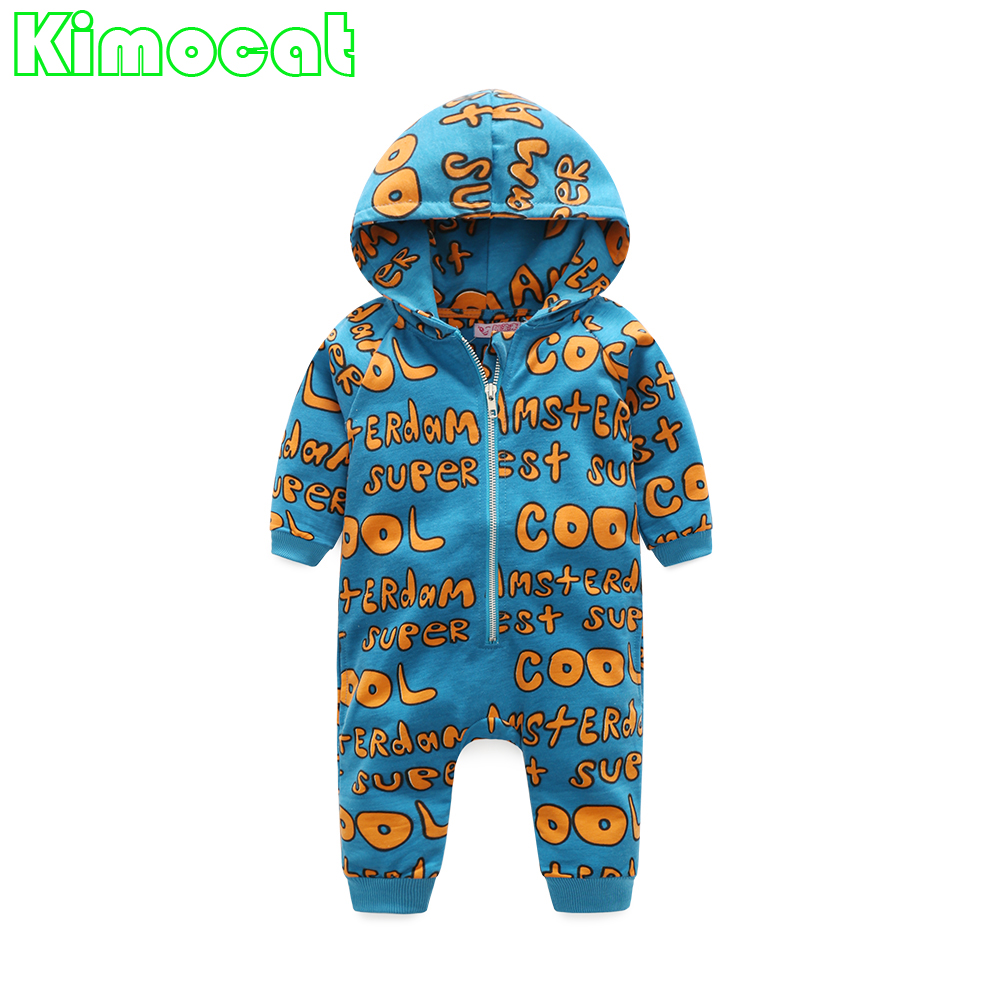 Fashion Infant Baby Rompers Cotton Newborn Baby Boy Clothes Long Sleeve Letter Print Girls Jumpsuit Roupas Bebes Costume 2017 spring newborn rompers baby boys girls clothes long sleeve cute cartoon face cotton infant jumpsuit queen ropa bebes 0 24m