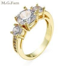 MxGxFam 14 k светильник золотого цвета кольца для женщин AAA+ кубический циркон Горячая покупка ювелирные изделия