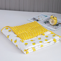 Summer New Ice Cream Printing Pattern Yellow Child Gravity Blanket Weighted Blanket Insomnia Conditioning Quilt 90*120cm