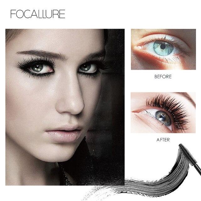 Professional Volume Curled Lashes Black Mascare Waterproof Curling Tick Eyelash Lengtheing Eye Makeup Mascara by Focallure 1