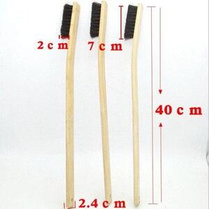 Image 2 - 1 шт., размер 40 см, щетка для автомойки, Бамбуковая щетка с длинной ручкой, щетка для щетины, инструменты для ухода за машиной, автодетализация 2019