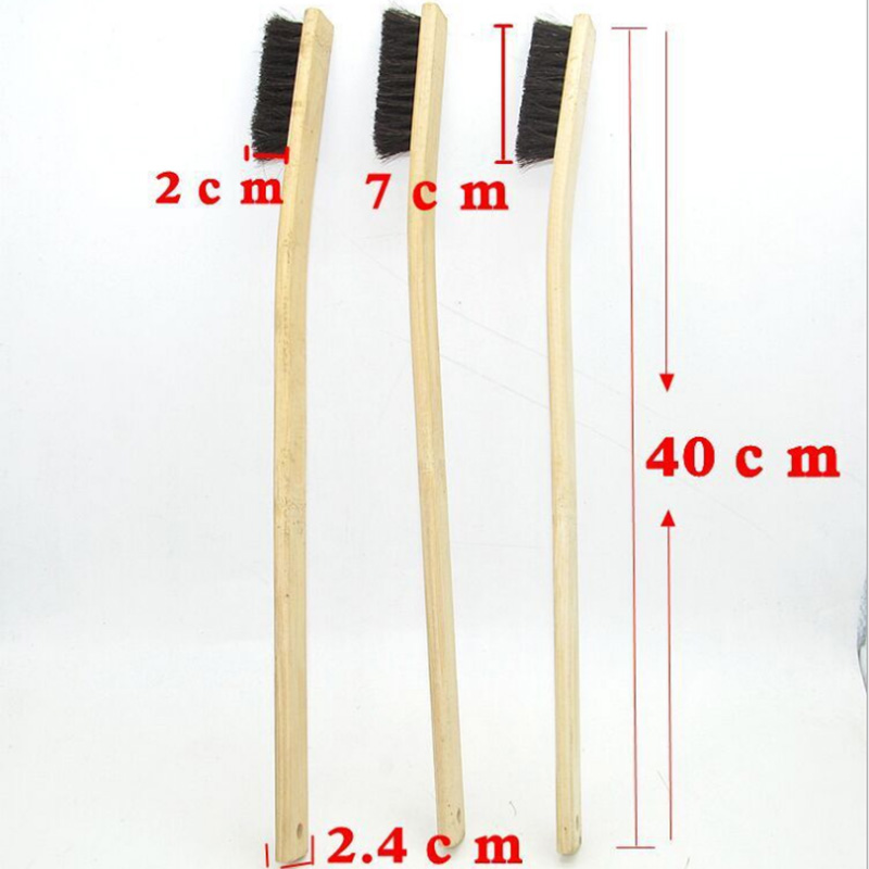 Image 2 - 1pc Size 40cm Car Wash Cleaning Detailing Brush Bamboo Long handled Pig Hair Wheel Brush Car Care Tools Auto Detailing 2019-in Sponges, Cloths & Brushes from Automobiles & Motorcycles