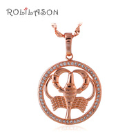 Choker Necklace Cancer Design 12 Constellation Zirconia Fashion Jewelry 18K Gold Plated Necklace Pendants For Ladies