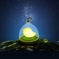 Creative Lovely Birdcage LED Night Light Rechargeable Touch Dimmer Desk Table Bird Lights For Children Room