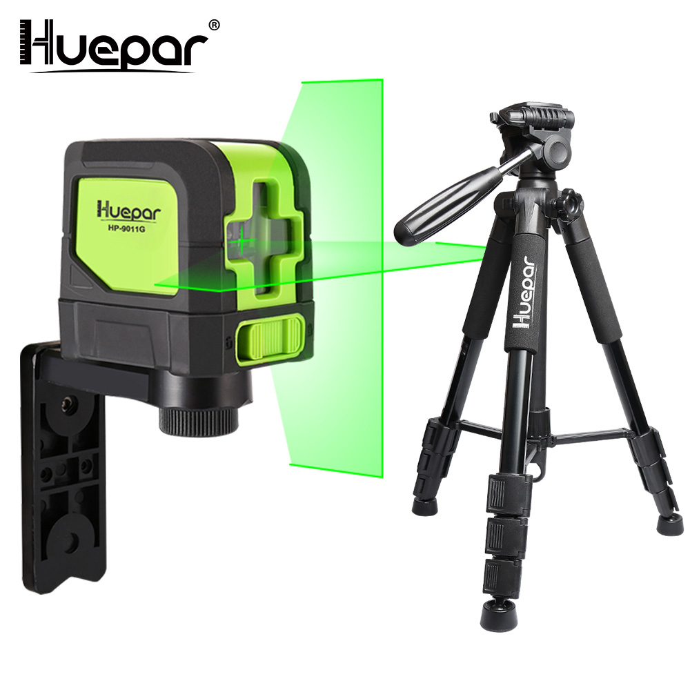 Huepar Green Beam Cross Line Laser Self-Leveling Laser Level + Multi-function Travel Camera Adjustable Laser Level Tripod free shipping 1 2m aluminum tripod laser level tripod adjustable tripod laser line tripod