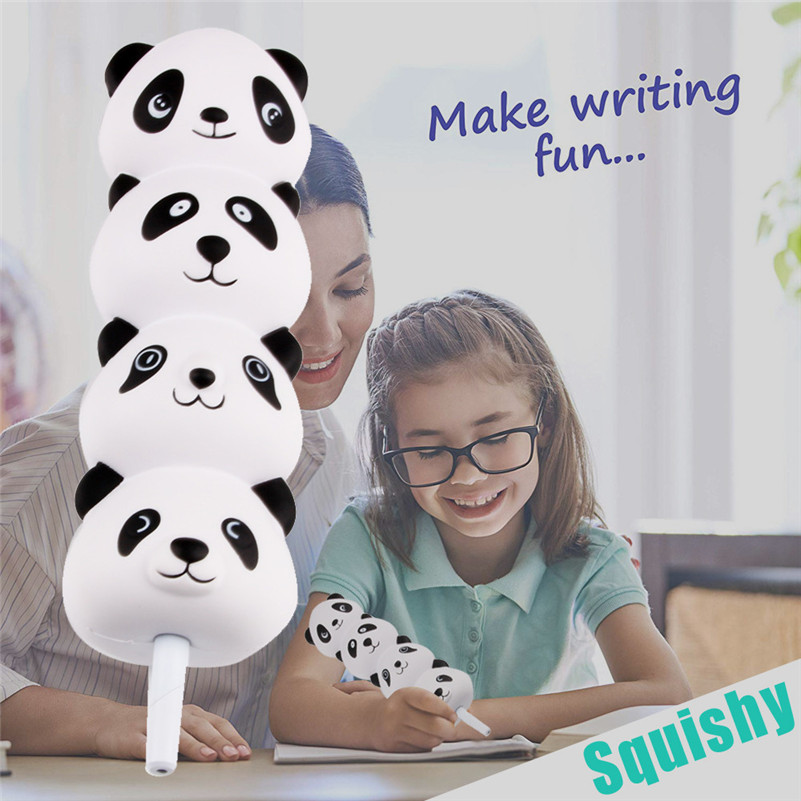 Squishies Panda Pencil Grip Slow Rising Pencil Toppers Fruit Scented Stress Relief Toy Gift For Kid Child Boy Girl  A1