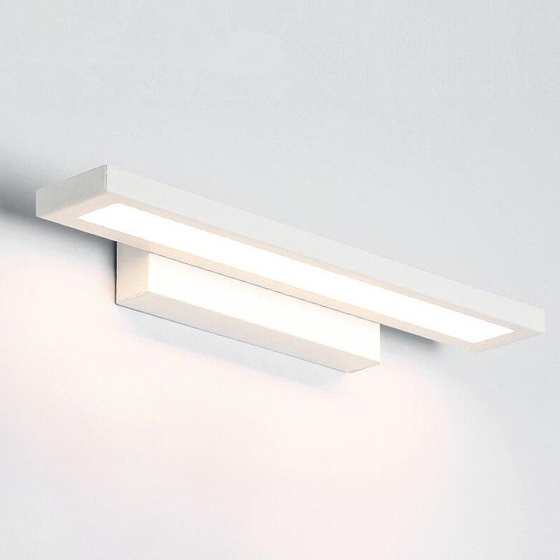 yrank led wall lamp minimalism mirror front light bathroom wall