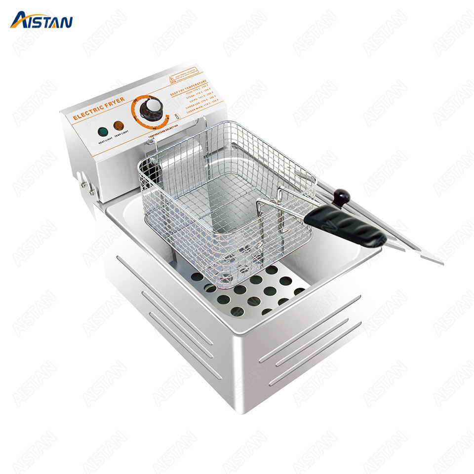 HY81 HY82 Commercial Deep Fryer Machine Electric Dual Deep Fryer Oven Stainless Steel Oil Fryer with