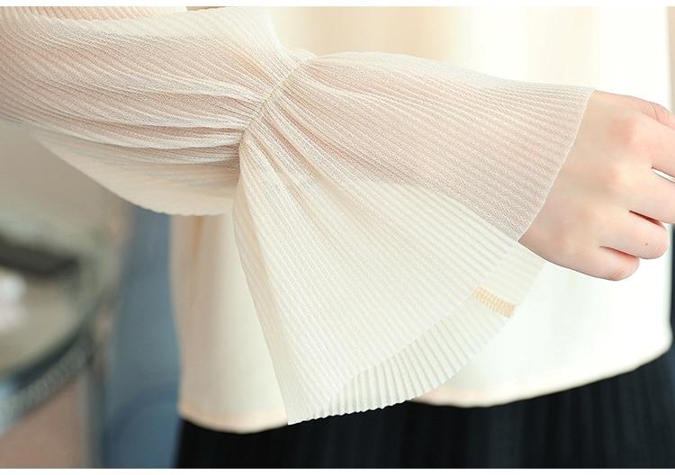 fashion slash neck white blouse long sleeve women shirt chiffon blouse shirt womens tops and blouses blusas femininas 1596 50 6