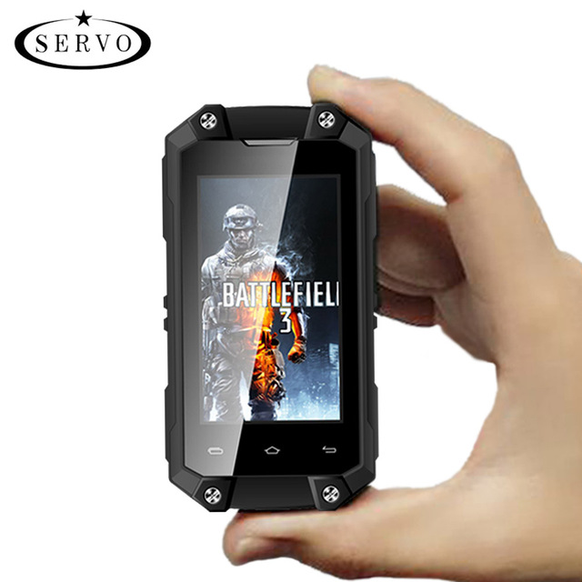 "Original SERVO J5 Plus 2.45"" MTK6580 mini Smartphone Android 5.1 RAM 1GB ROM 8GB Camera 5.0MP WCDMA IP65 Waterproof Mobile Phone"