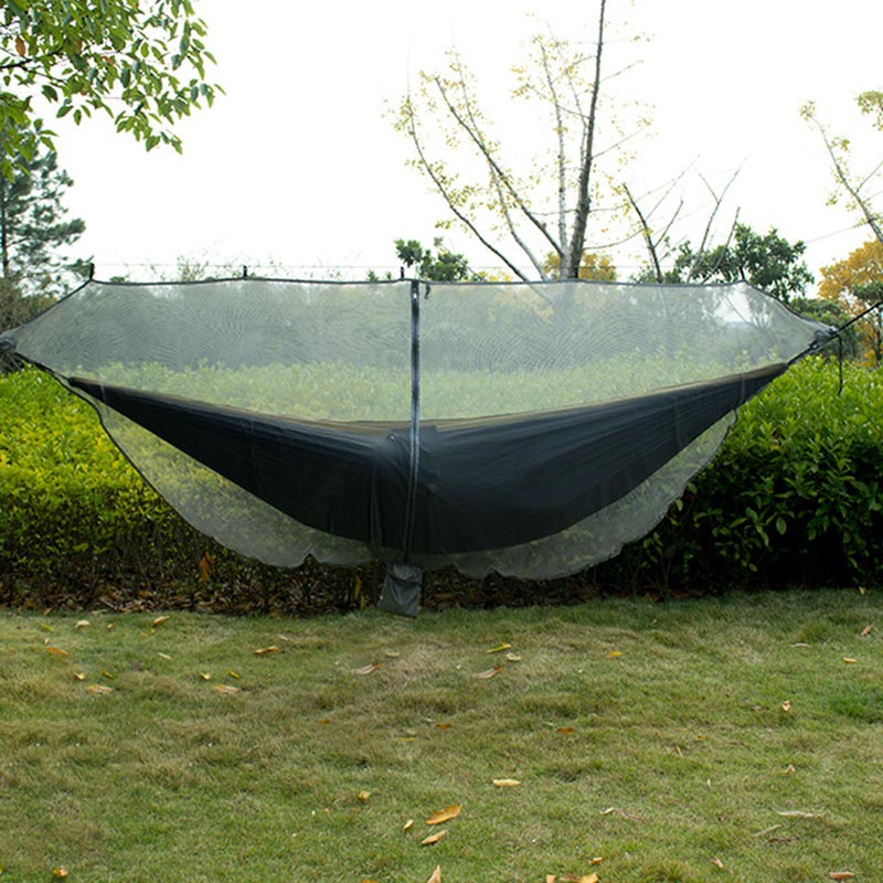 Portable Double Person Hammock Mosquito Net for Camping Garden Hunting Travel E2S