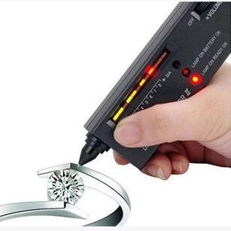 Free shipping Portable Diamond Selector II jewelry Gemstone Tester Tool,gemstone detector,diamond picker selector 2 free shipping mini diamond detector jewelry testing tool gems hardness tester diamond selector diamond detective tool
