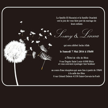 Customized Flying dandelion 5 7inch rectangle shape clear acrylic wedding invitation card laser engraving letters 1lot