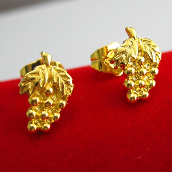 Gold Stud Earring 999 Fine 24k High Artificial Zhaohao G Women