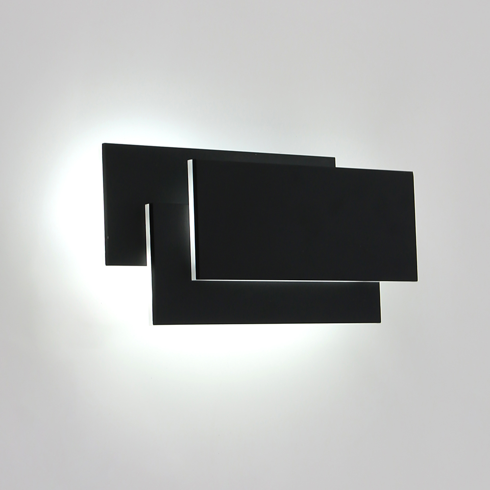 12W Warm Cold White Bedroom Bathroom Decorative Wall Mount Wall Sconce Lights Fixtures Aluminum Acrylic