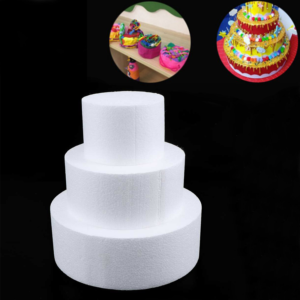 Handmade DIY Patrice Model Cake Dummy Sugarcraft Foam Mould Round Foam Mould Heart Polystyrene Styrofoam Foam Cake Mold