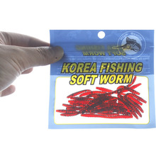 20PCS 6cm/0.6g Soft Silicone Manmade Worm Helminth Earthworm Red Fishing Lures Baits A helpful Fishing Tool For Anglers