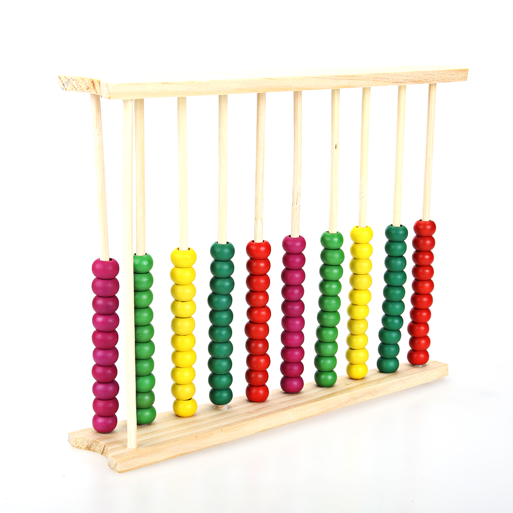 Hot Wooden Abacus Baby Math Toys Learning Educational Kids Math Counting Calculating Beads Montessori Mathematic Education Toy