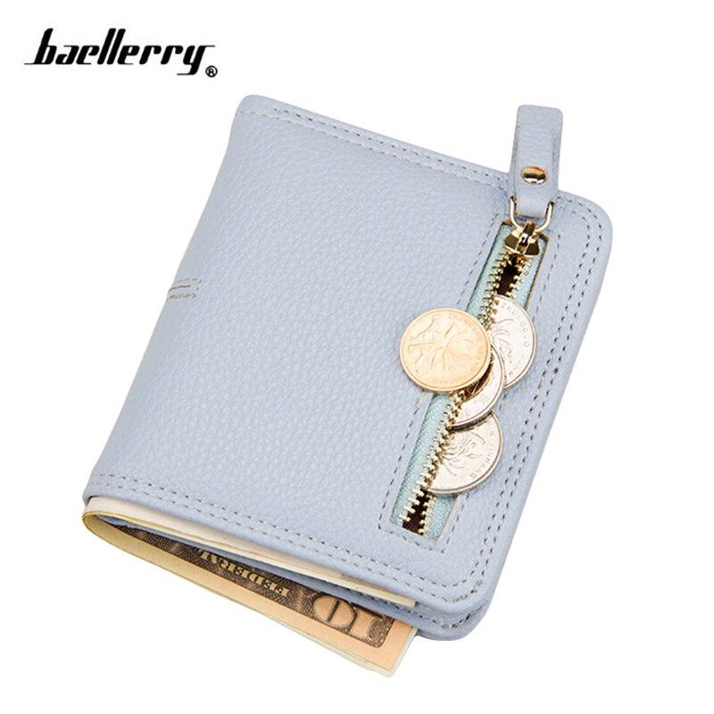 Small Women Wallet Leather Female Wallet Short Card Holder Zipper Coin Purse Girl Brand Mini Billfold Thin Wallet Cute Money Bag Кошелёк