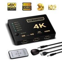HDMI Switch Switcher Selector 3×1 Caixa Ultra HD 2160 p/hz para HDTV Xbox PS3 PS4 60 multimídia