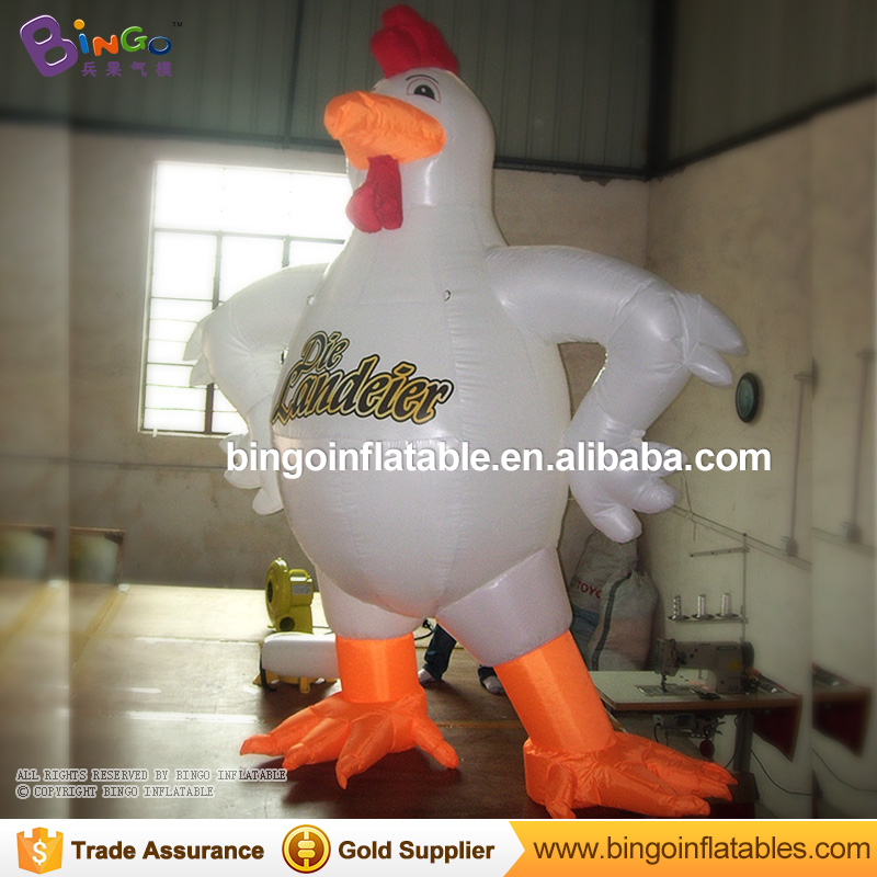 3m High Giant Inflatable chicken rooster cock balloon animal cartoon toy for advertising commercial party 2018hot Zoo decoration giant inflatable balloon for decoration and advertisements
