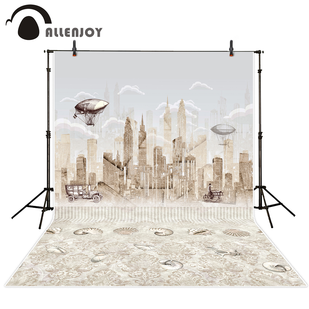 Allenjoy photography background city and cars vintage Ammonite fossils Funds for newborn studio background for photo shoots analysis and performance of mutual funds