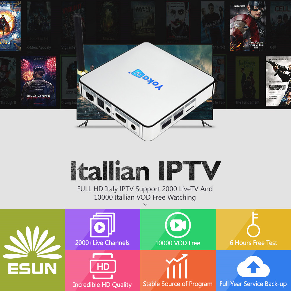 2000+Italy-TV KB2 Android TV Box 2GB/32GB Amlogic S912 Spain/UK/Europe/ItalyVOD/Portugal/EX-YU/Albania/xxx set top box yokatv kb2 amlogic s912 tv box rii i8 white