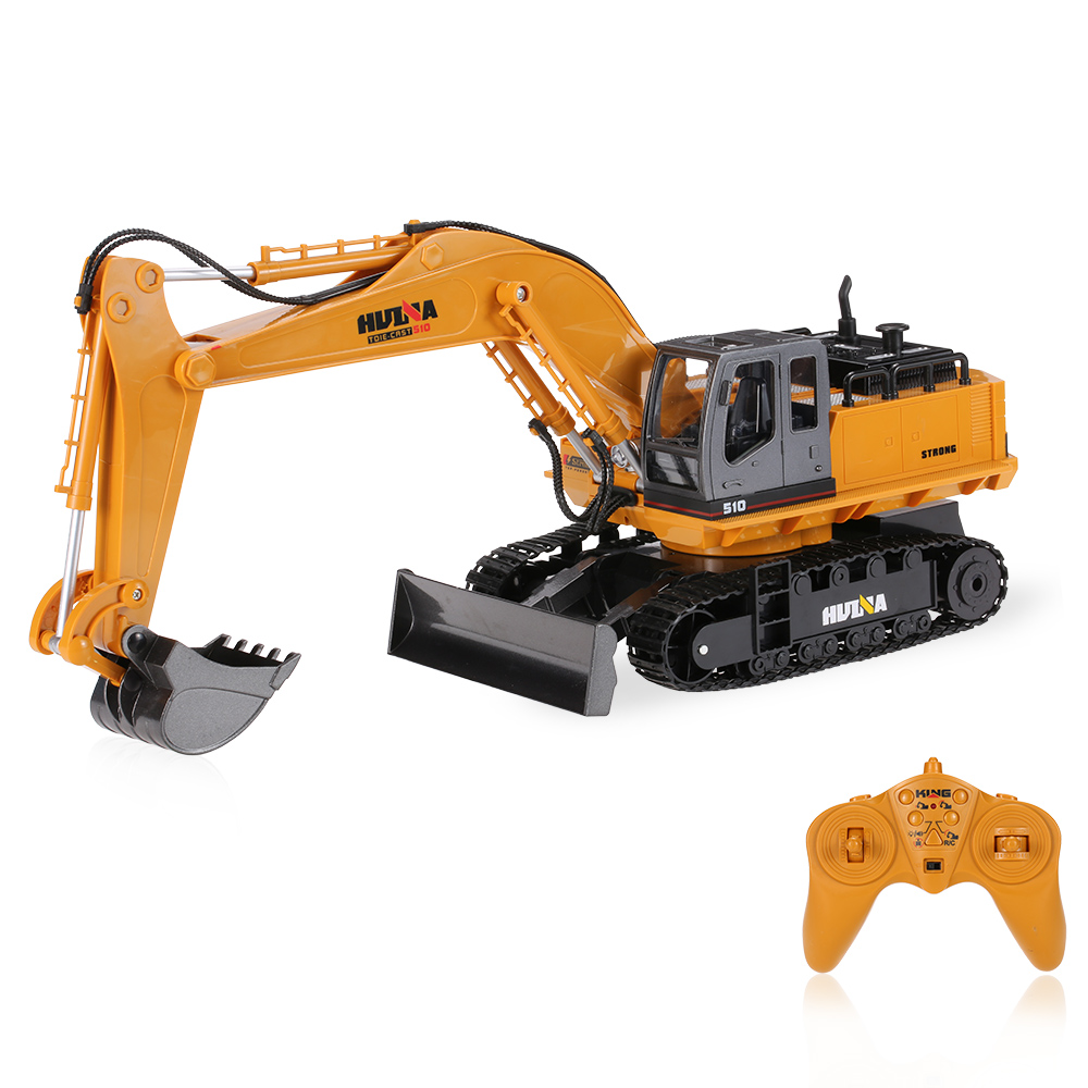 Original RC Car TOYS NO.1510 2.4GHz 11CH Alloy Engineering Electronic Excavator Heavy Machinery RC Toys as Truck huina 1510 rc excavator car 2 4g 11ch metal remote control engineering digger truck model electronic heavy machinery toy