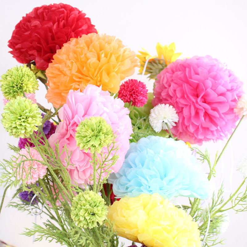Aliexpress buy 10pcslot 12 30cm large tissue paper pom poms aliexpress buy 10pcslot 12 30cm large tissue paper pom poms paper flowers ball wedding decoration birthday parties from reliable tissue paper pom mightylinksfo