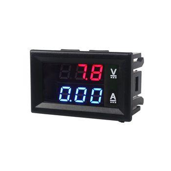 Wysokiej jakości DC 100V 10A woltomierz amperomierz niebieski + czerwony LED amp Dual Digital Volt miernik miernik tanie i dobre opinie Tylko analogowe 48 * 29 * 21 mm HESAI (rzeka) od-15 do 70c Woltomierz DC 100V 10A Elektryczne PRĄD STAŁY 0-100V 0-10A